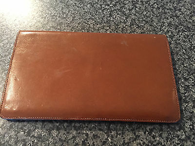 Vintage Brown Leather Wallet Bifold Notes Section and Zip Pocket