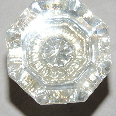 Hardware Door Knob Handle Vintage GLASS Door Knob Clear