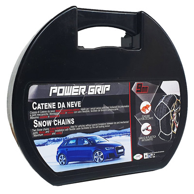 Catene da Neve Power Grip 9mm Omologate Tg 50 per pneumatici 175/65r14