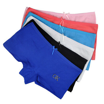 3,6 Pack Women Boxers Boyshorts Cotton Girls Ladies Knickers Underwear Panties