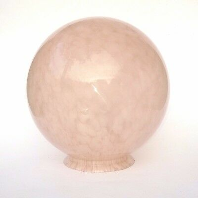 Art Deco French Globe Glass Celling Light lamp Shade Marbled Soft Pink