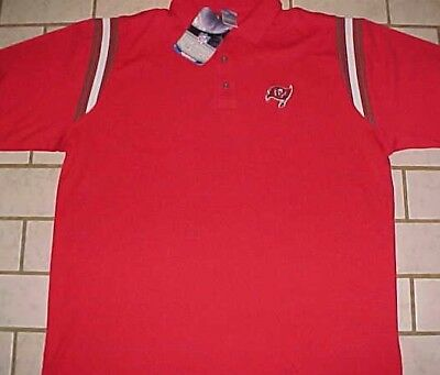 ef55fe29 NFL TAMPA BAY Buccaneers Golf Polo Shirt by Reebok XL White Super ...