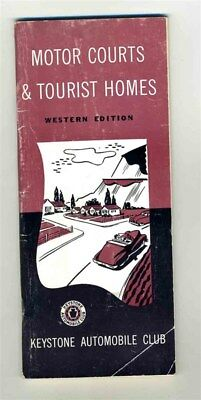 Keystone Automobile Club Booklet Motor Courts & Tourist Homes Western Edition