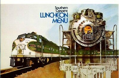 Southern Railroad Southern Crescent Luncheon Menu 1978 MINT