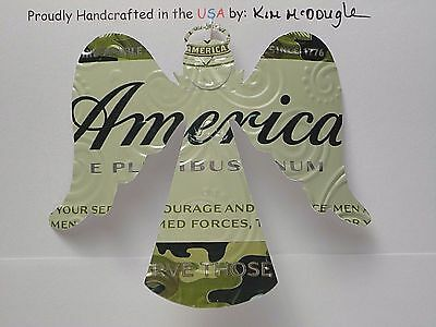 Angel Handmade Christmas Ornament Recycled Aluminum America Armed Forces Can