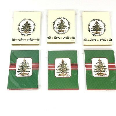 "6 Spode Notebooks Christmas Tree Pocket Size Blank Matchbook Style Lot 4"" x 3"""