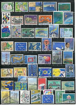 Inventions, business, bridges etc on used stamps from Japan #17