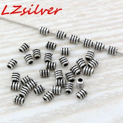 50pcs Antique Silver Spiral tube bead Spacer Bead Findings 3.5x4.8mm DIY Jewelry