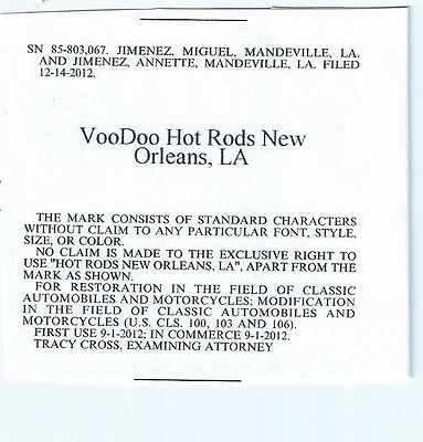 VooDoo Hot Rods New Orleans, LA Trademark