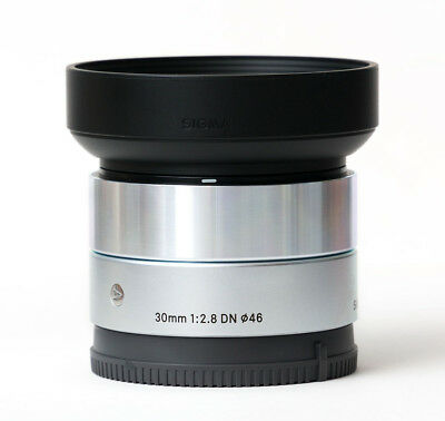 Sigma 30mm f/2.8 DN A Lens Silver - Sony E Mount US