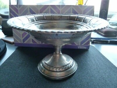 Vintage Columbia Sterling Silver Weighted Compote Dish 211grams / 7.4 oz. low sh