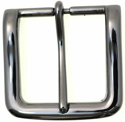 Single Prong Square Replacement Belt Buckle For 40mm Belts Black Nickel