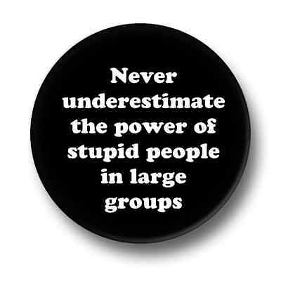 Stupid People 1 Inch / 25mm Pin Button Badge Stupidity Funny Idiots Morons Funny