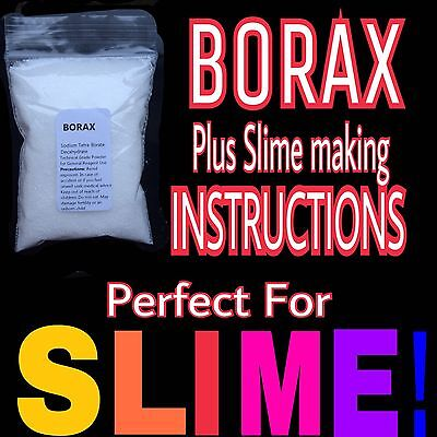 Borax Powder 40g ¦ Slime Activator including Instructions for many slime types