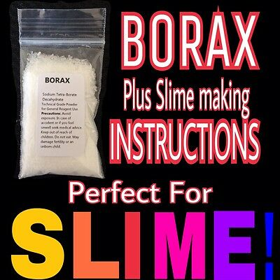 Borax Powder 10g ¦ Slime Activator, including How to Make Instructions for Slime