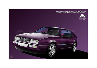 VW Corrado VR6 Poster Illustration