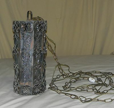 Antique Chandelier Hanging Lantern Lighting Light Fixture Ceiling Lamp w/ Glass