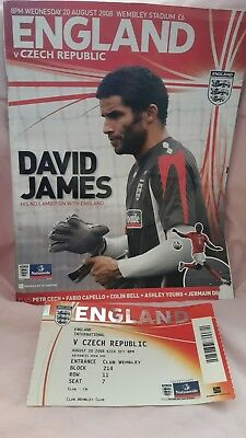 England Football Programme And Ticket