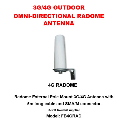 3G/4G Outdoor Omni-Directional Radome Antenna With 5M