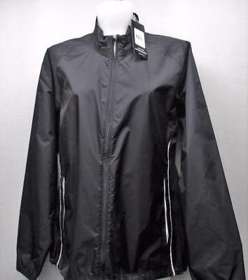 New Womens XL Adidas Climaproof Stretch Waterproof Long sleeve golf jacket Black