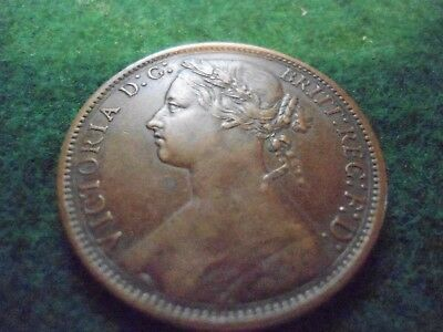 Great Britain 1876H Penny