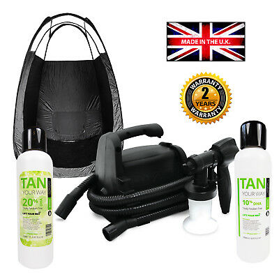 TS50 Spray Tan Starter Kit for Professional Tanning. Machine, Tent, Solution.