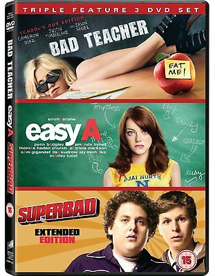 Bad Teacher / Easy A / Superbad [DVD] [2011] Triple Pack New Sealed