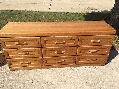 Dresser With Mirror 9 Drawers