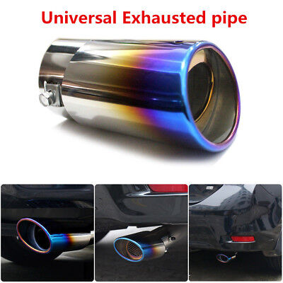 Car Auto Stainless Steel Bluing Exhaust Pipe Tail Muffler Tip Universal Colorful