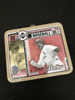 MLB 1999 Upper Deck Mark McGwire Baseball Retro Lunch Box Tin