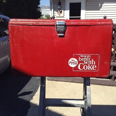 Vintage Metal Coca Cola Coke Cooler