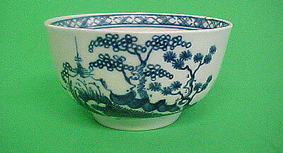 CANNONBALL TEABOWL ~ DR.WALL ~ WORCESTER Ca 1765