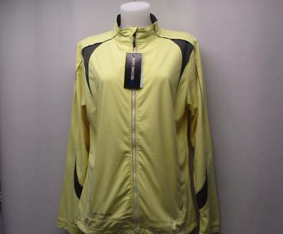 New Ladies XL Second Skin Yellow long sleeve full zip polyester golf jacket