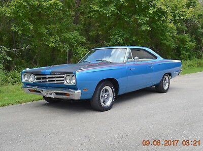 1969 Plymouth Road Runner NUMBERS MATCHING 383 ROADRUNNER 1969 ROADRUNNER 383 NUMBERS MATCHING SOLID STRAIGHT BEAUTIFUL B5 BLUE