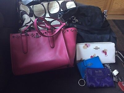 Coach 10pc lot. Purses, wallets and more!