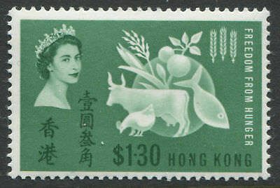 Hong Kong QEII 1963 Freedom from Hunger $1.30 mint o.g.