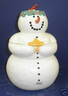 Retired Dept. 56 Once Upon A Starry Night Snowman Cookie Jar - NIB - #38902
