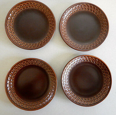 Wedgewood Pennine four vintage 1960/70s brown side plates