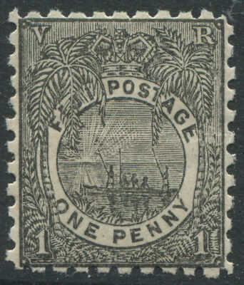 Fiji QV 1893 1d black mint o.g.