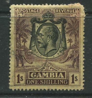 Gambia KGV 1929 1/ dark violet & yellow buff CDs used