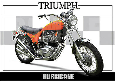 Triumph Hurricane Laminated Motorcycle Print /  Motorcycle Poster