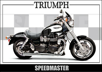 Triumph Speedmaster Laminated Motorcycle Print /  Motorcycle Poster