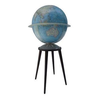Mid Century Modern Vintage Globe with Stand