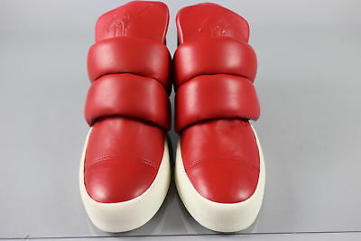 NWT $1690 Authentic GIUSEPPE ZANOTTI Size 11 Puff-Strap Red Sneakers Italy