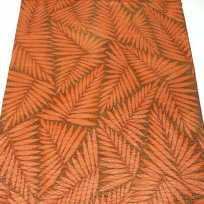 "D882 Japanese Kimono Silk Fabric Brown 61"" Vintage Quilt Handicraft"