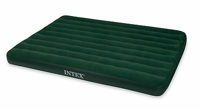 HOME BASICS Intex Prestige Downy Airbed with Hand Held Battery Pump, QUEEN, H...