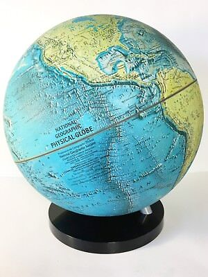 """Vintage 1986 National Geographic 17 """" Desktop World Globe With Stand"""