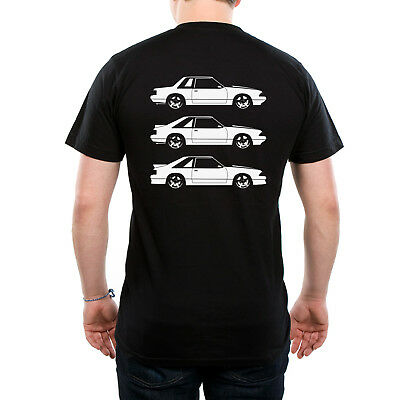 Fox Body Ford Mustang Notch / Hatch / GT Side View T Shirt
