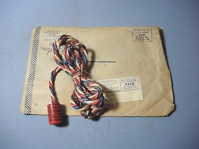 1940's Tom Mix Ralston Straight Shooters Cereal Premium Spinning Rope w/ Mailer