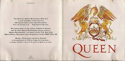 Queen QUEENCAT1 leaflet listing all the available QUEEN releases (at 1995) UK